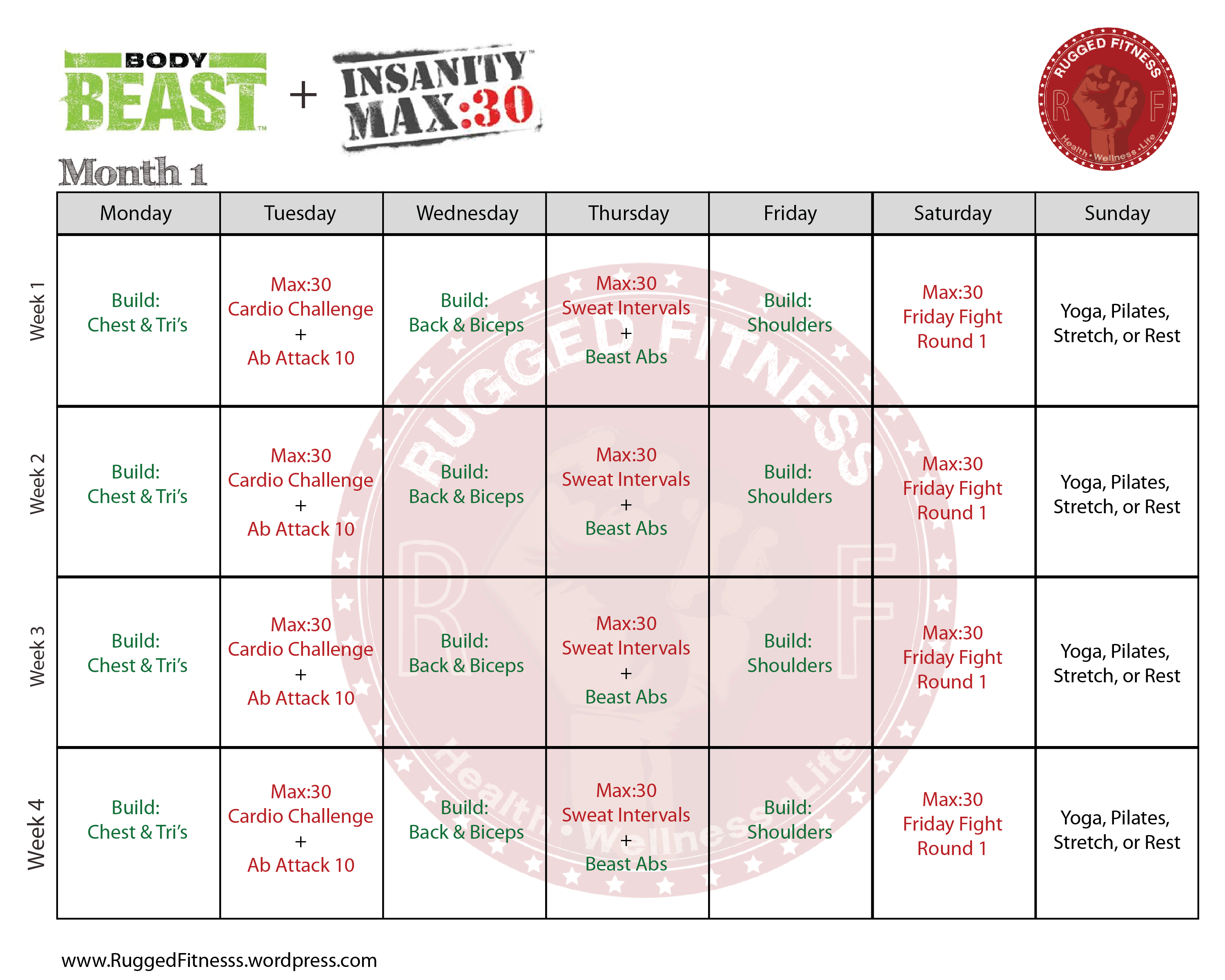 Insanity workout sheet pdf Mackenzie – Insanity Workout Sheet