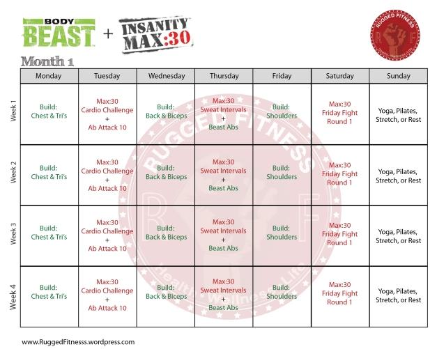 insanity max 30 calendar pdf